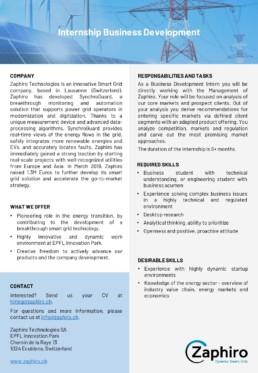 Zaphiro Technologies Internship Business Development